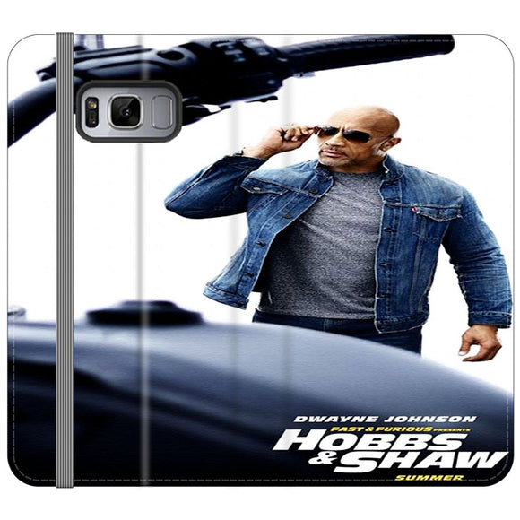 Dwayne Johnson Fast & Furious X Hobbs & Shaw Summer Samsung Galaxy S8 Plus Flip Case | Frostedcase