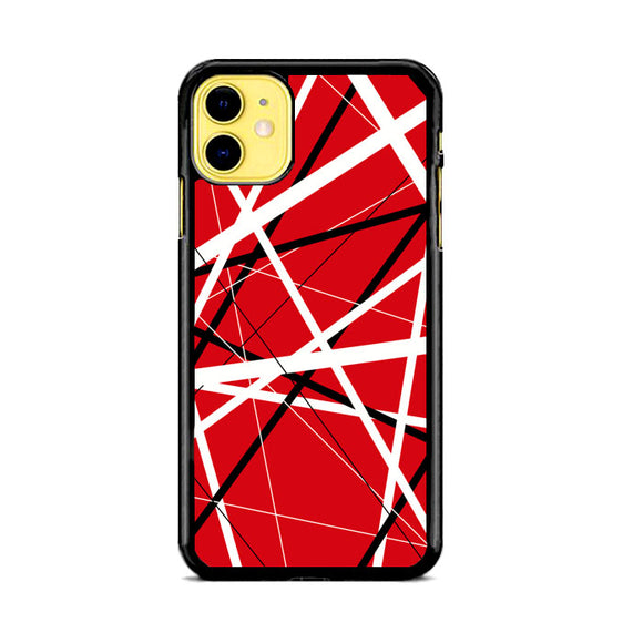 Eddie Van Halen Graphic Guitar Red iPhone 11 Case | Frostedcase