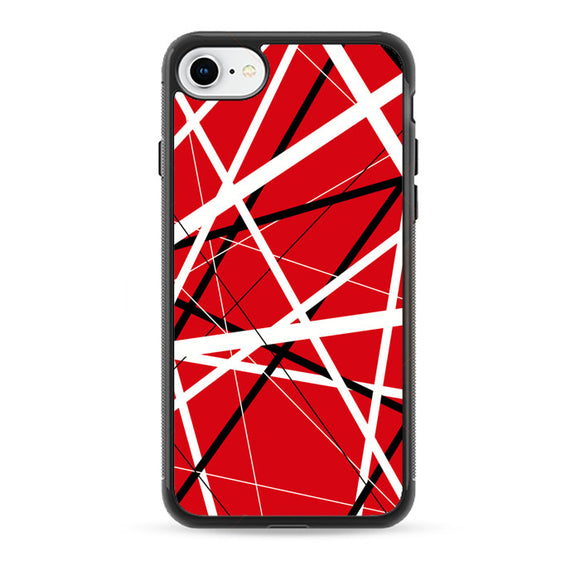 Eddie Van Halen Graphic Guitar Red iPhone 8 Case | Frostedcase