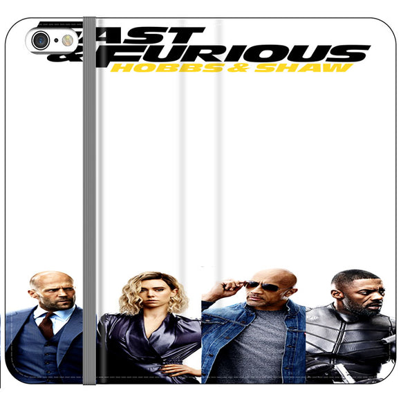Fast & Furious Hobbs & Shaw 4 Characters And Logo Type iPhone 6 Plus|6S Plus Flip Case | Frostedcase