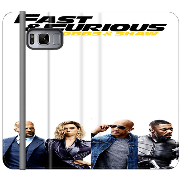 Fast & Furious Hobbs & Shaw 4 Characters And Logo Type Samsung Galaxy S8 Plus Flip Case | Frostedcase