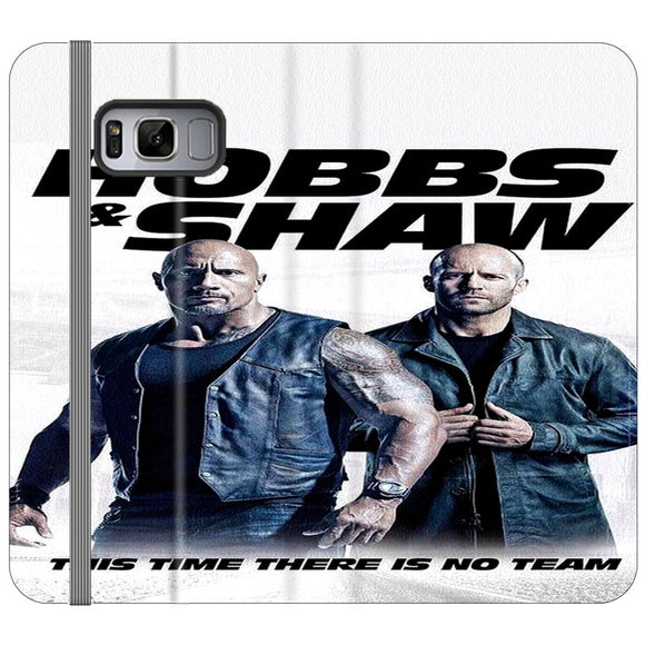 Fast & Furious Hobbs & Shaw Poster Movie Samsung Galaxy S8 Plus Flip Case | Frostedcase