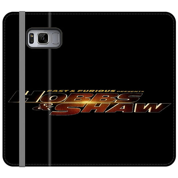 Fast & Furious Hobbs And Shaw Presents Logo Type Samsung Galaxy S8 Plus Flip Case | Frostedcase