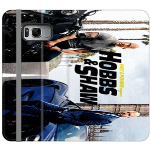 Fast & Furious X Hobbs & Shaw Summer Poster Movie Canvas Samsung Galaxy S8 Plus Flip Case | Frostedcase