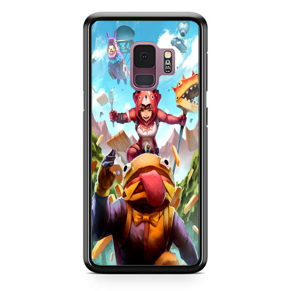 Fortnite Burger And Friends Doodle Art Samsung Galaxy S9 Case | Frostedcase
