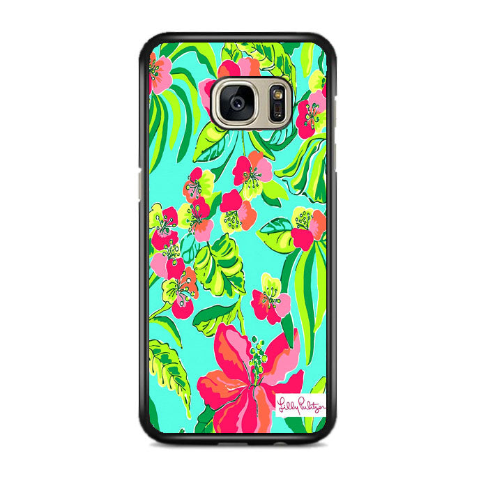 Fritillaria Imperialis Flowers Pattern Lilly Pulitzer Samsung Galaxy S7 EDGE Case   Frostedcase