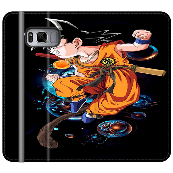 Goku And Bubble Illustration Samsung Galaxy S8 Plus Flip Case | Frostedcase