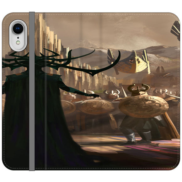 Hela In Thor Ragnarok iPhone XR Flip Case | Frostedcase