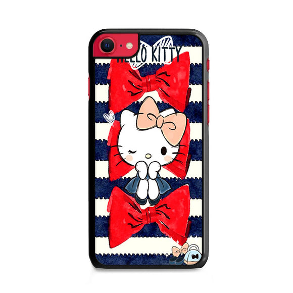 Hello Kitty Ribbon Sailor Suit Lines iPhone SE Case | Frostedcase