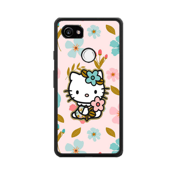 Hello Kitty And Rose Google Pixel 2 XL Case | Frostedcase