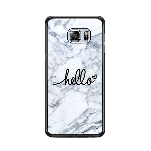 Hello Marble Samsung Galaxy S6 EDGE Plus Case | Frostedcase