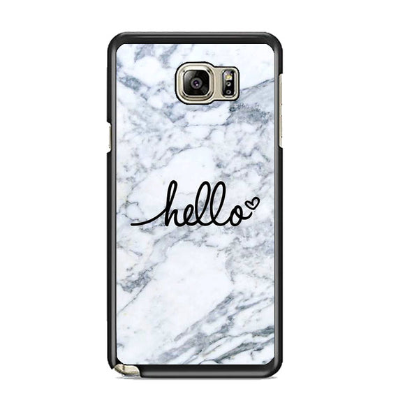Hello Marble Samsung Galaxy Note 5 Case | Frostedcase