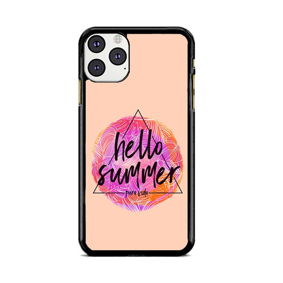 Hello Summer Soft Pink iPhone 11 Pro Max Case | Frostedcase