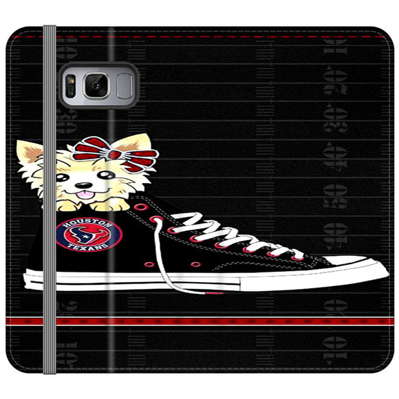 Houston Texans High Waist And Dog Samsung Galaxy S8 Flip Case | Frostedcase
