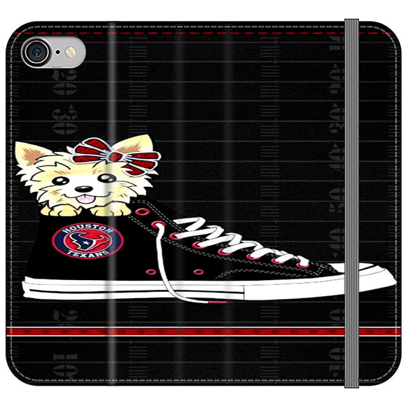 Houston Texans High Waist And Dog iPhone 8 Flip Case | Frostedcase