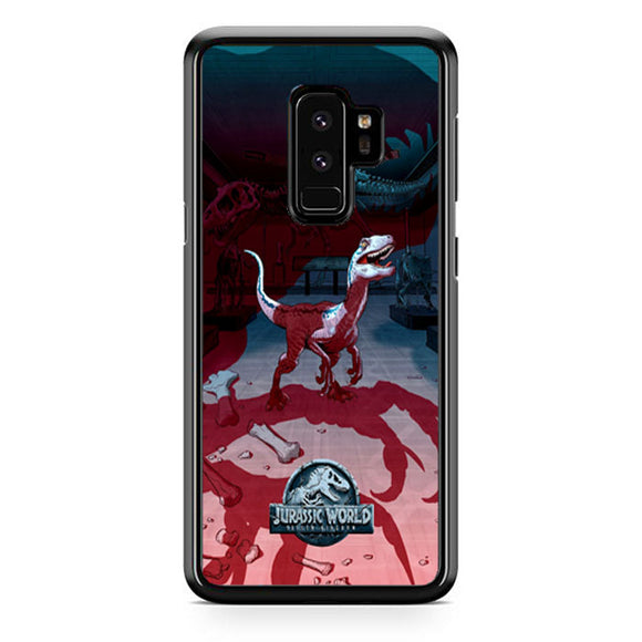 Jurassic World Fallen Kingdom Poster Red Blue Samsung Galaxy S9 Plus Case | Frostedcase