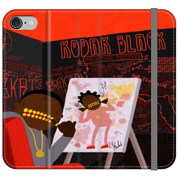 Kodak Black Illustration iPhone 8 Flip Case | Frostedcase