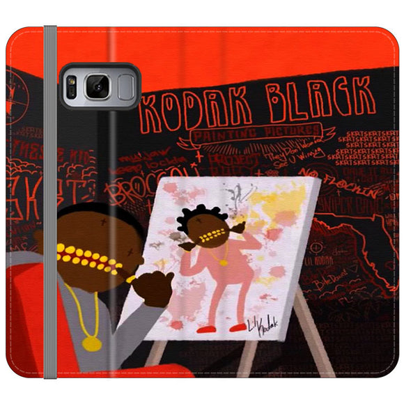 Kodak Black Illustration Samsung Galaxy S8 Flip Case | Frostedcase