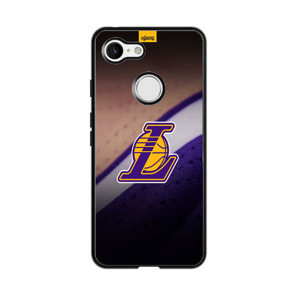 Lakers Logo Jersey Canvas Google Pixel 3 Case | Frostedcase