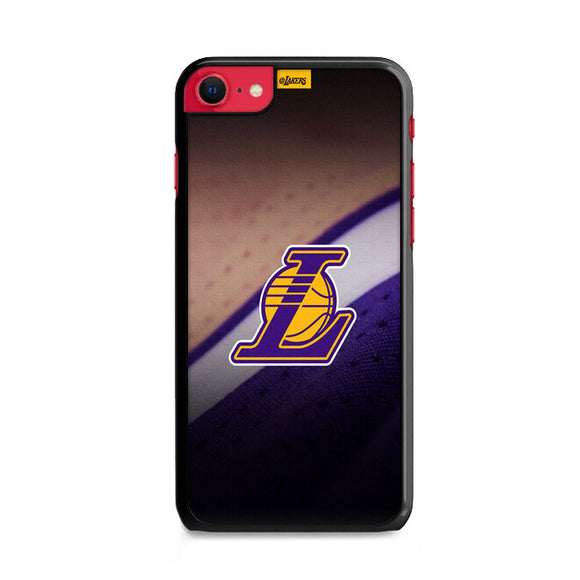 Lakers Logo Jersey Canvas iPhone SE Case | Frostedcase
