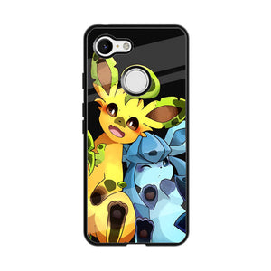 Leafeon And Glaceon Mirror Face Google Pixel 3 Case Frostedcase