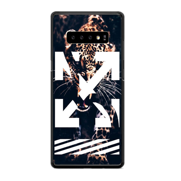 Leopard X Off White Samsung Galaxy S10 Case | Frostedcase