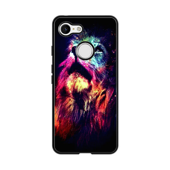 Lion Galaxy Art Google Pixel 3 Case | Frostedcase