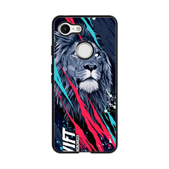 Lion Vift Art Google Pixel 3 Case | Frostedcase