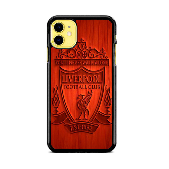 Liverpool Fc Est 1892 Orange Wood Engraving iPhone 11 Case | Frostedcase