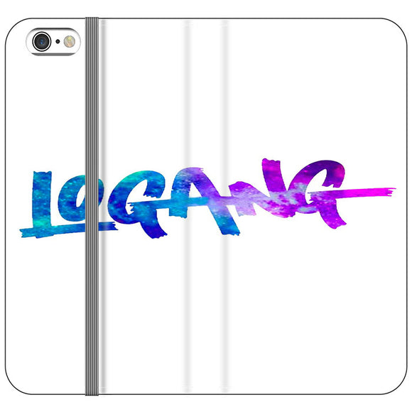 Logang Blue Purple iPhone 6 Plus|6S Plus Flip Case | Frostedcase