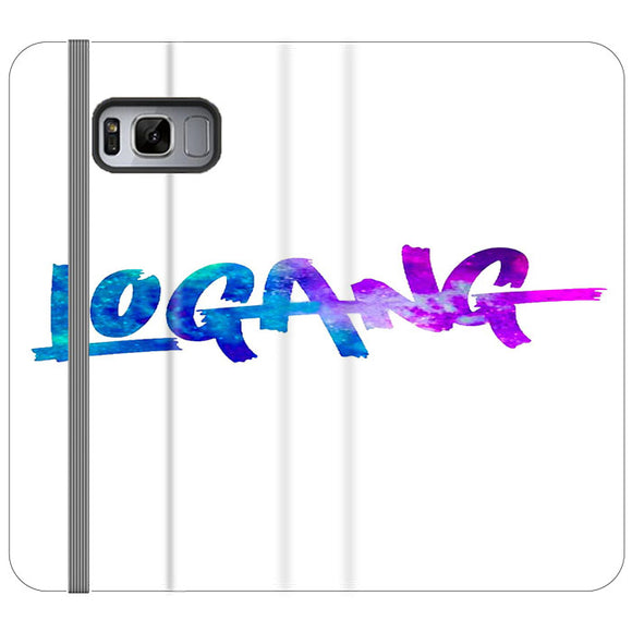 Logang Blue Purple Samsung Galaxy S8 Flip Case | Frostedcase