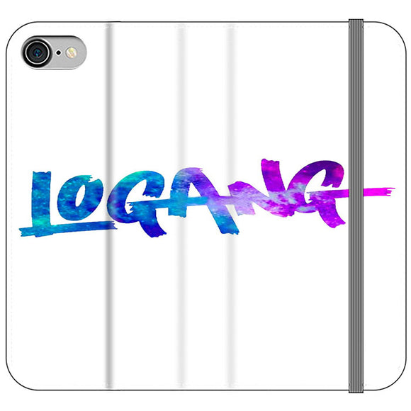 Logang Blue Purple iPhone 8 Flip Case | Frostedcase