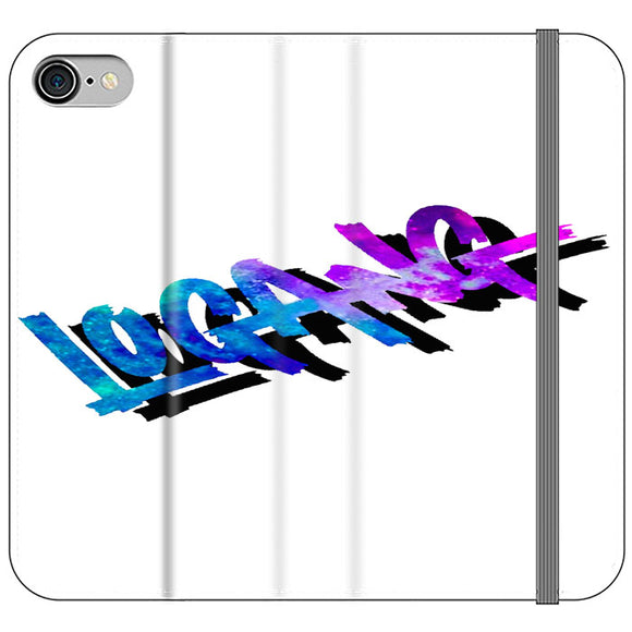 Logang Doubel Font iPhone 8 Flip Case | Frostedcase