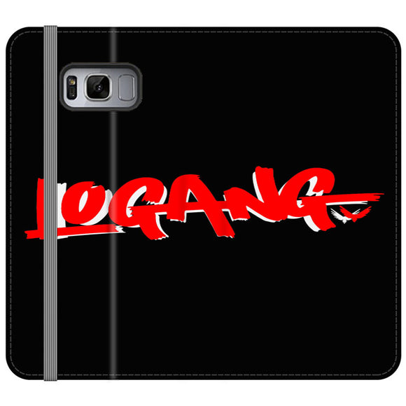 Logang Red Samsung Galaxy S8 Flip Case | Frostedcase