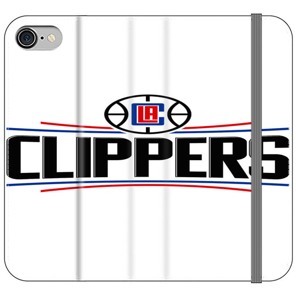 Los Angeles Clippers New Logo iPhone 8 Flip Case | Frostedcase