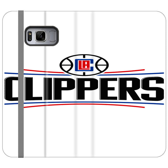 Los Angeles Clippers New Logo Samsung Galaxy S8 Flip Case | Frostedcase