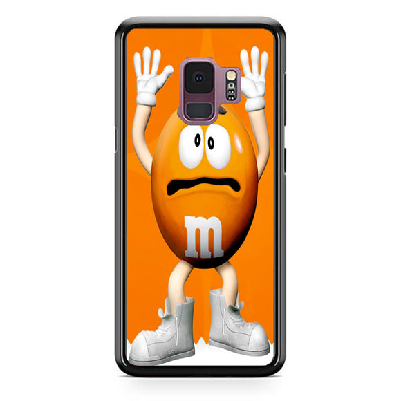 M&M Candy Orange Character Samsung Galaxy S9 Case | Frostedcase