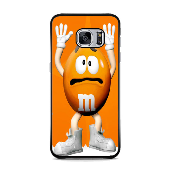 M&M Candy Orange Character Samsung Galaxy S7 Case | Frostedcase