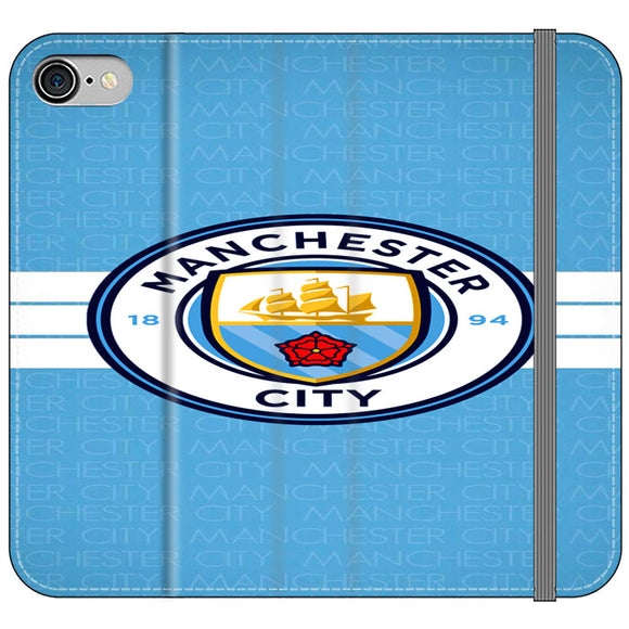 Manchester City Logo iPhone 8 Flip Case | Frostedcase