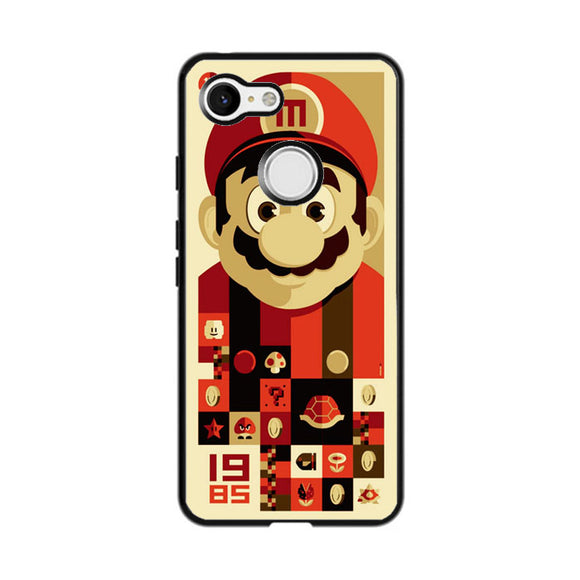 Mario Bros Vector Google Pixel 3 Case | Frostedcase