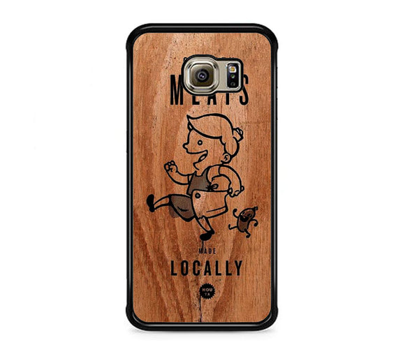 Meats Locally Wooden Samsung Galaxy S6 EDGE Case | Frostedcase