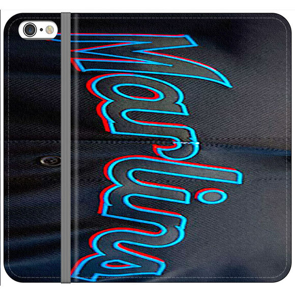Miami Marlins Baseball Jersey iPhone 6 Plus|6S Plus Flip Case | Frostedcase
