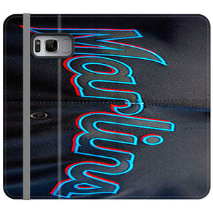 Miami Marlins Baseball Jersey Samsung Galaxy S8 Plus Flip Case | Frostedcase