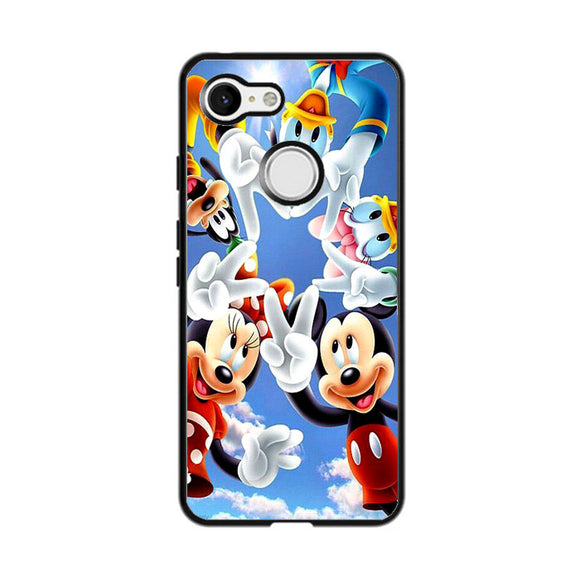 Mickey Mouse And Friends Peace Star Google Pixel 3 Case | Frostedcase