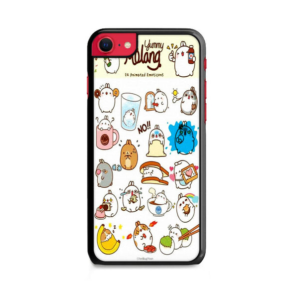 Molang Animation Sticker iPhone SE Case | Frostedcase