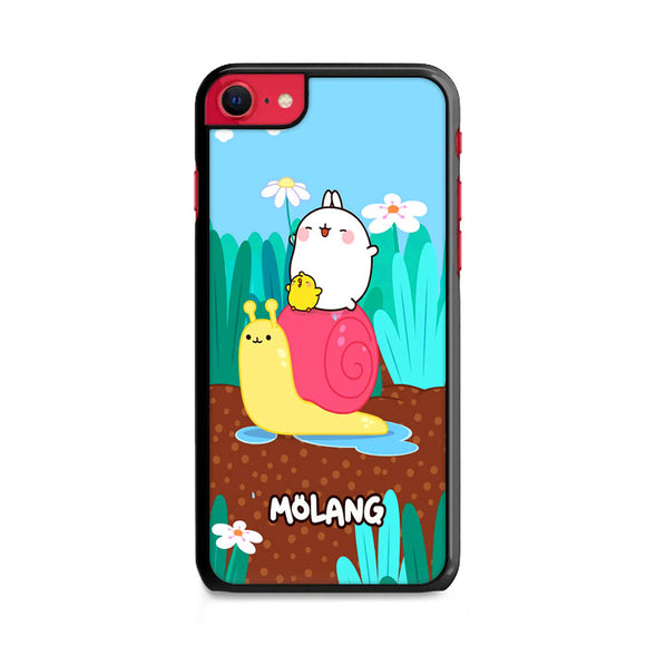 Molang And Piu-Piu Ride A Snail iPhone SE Case | Frostedcase