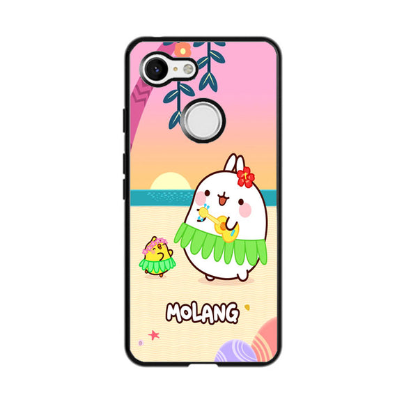 Molang And Piu-Piu On The Beach Google Pixel 3 Case | Frostedcase