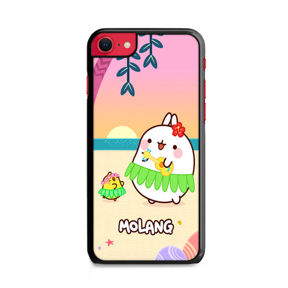 Molang And Piu-Piu On The Beach iPhone SE Case | Frostedcase