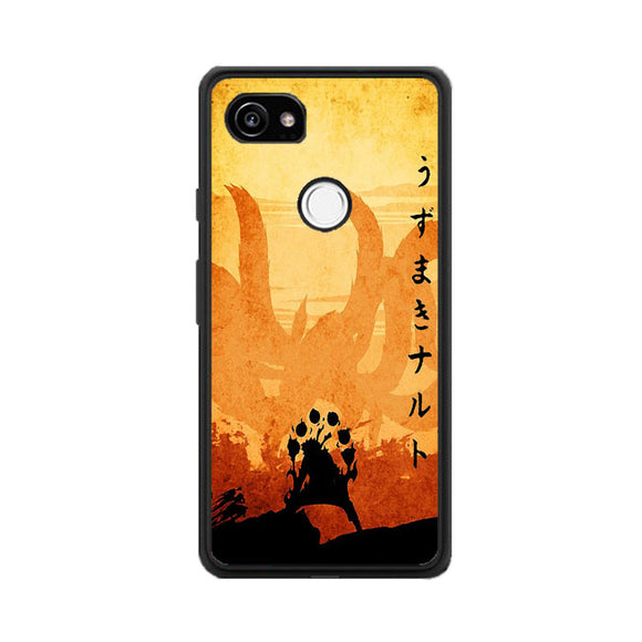 Naruto Orange Poster Silhouette Google Pixel 2 XL Case | Frostedcase