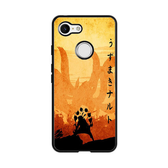 Naruto Orange Poster Silhouette Google Pixel 3 XL Case | Frostedcase